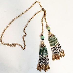 Boho Tassel Beaded Necklace